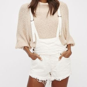 NWT Free People Strappy White Overalls